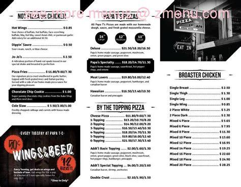 kitchen table prescott wi menu of papa tronnios pizza restaurant prescott