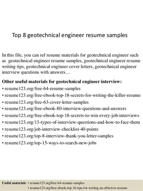 top  geotechnical engineer resume samples