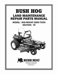 Bush Hog Land Maintenance Repair Parts Manual Model  Mid