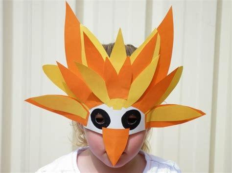 einfache tiermasken basteln einfache vogel maske aus papier kinder fasching maske masken und fasching
