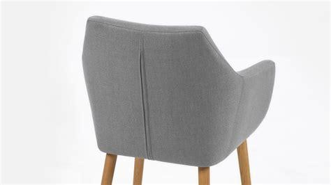 stuhl grau retro stuhl nora armlehnstuhl sessel in vintage stoff hell grau eiche