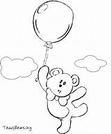 Teddy Bear Coloring Balloons Teddybears Sketch Colorpages Balloon2 Credit Larger sketch template