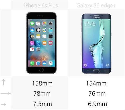 comparison samsung galaxy edge apple iphone