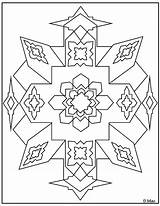 Coloring Geometric Pages Shapes Adult Basic Printable Colouring Lines Using Indian Intricate Blossom Pattern Books Native Print American Been Publisher sketch template