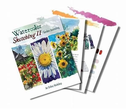 Watercolor Garden Sketching Journaling Painting Guidance Depth