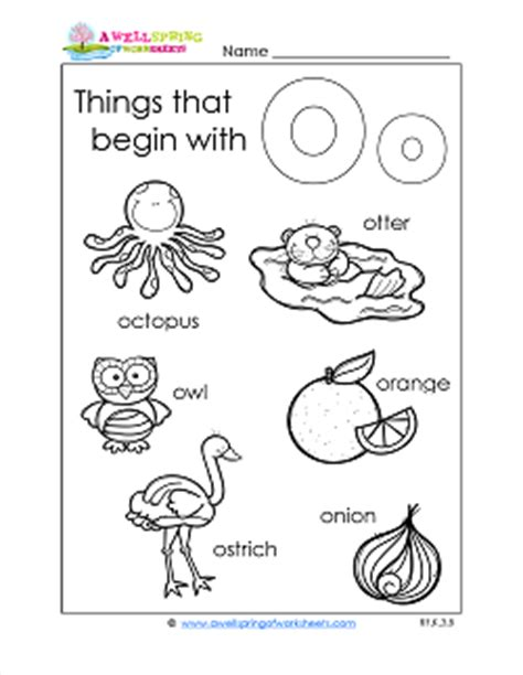 things that start with the letter k subject a wellspring of worksheets 45564