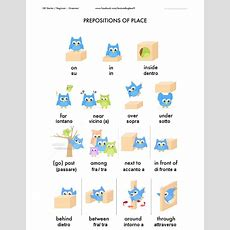 Italian Prepositions (of Place
