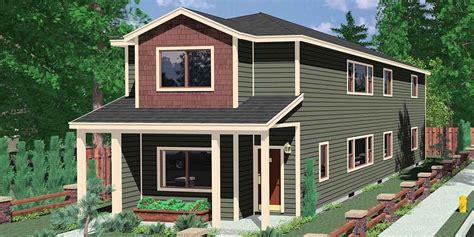 duplex house plans designs  story ranch  story bruinier associates