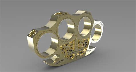 holy brass knuckles  model  printable stl cgtradercom