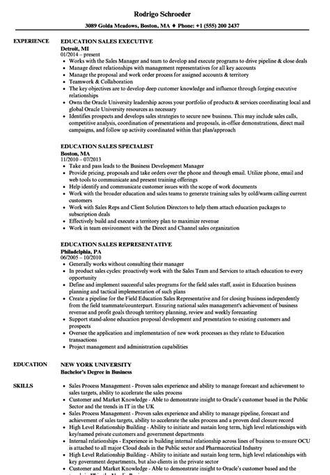 Education Resume by Education Sales Resume Sles Velvet