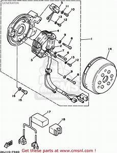 Yamaha Xt350 Gc 1995 Generator