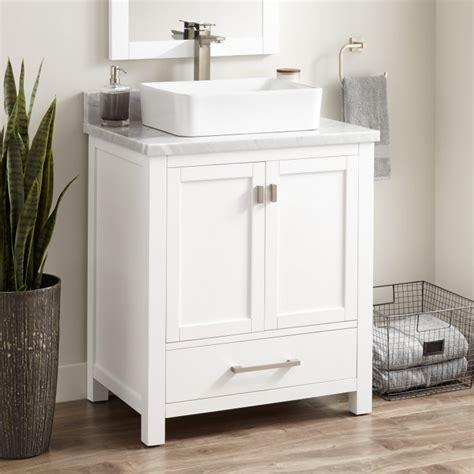 """30"""" Modero Vessel Sink Vanity White Bathroom Vanities"""
