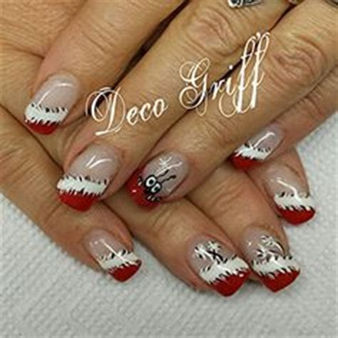 ongle en gel deco noel ongles no 235 l and d 233 co on