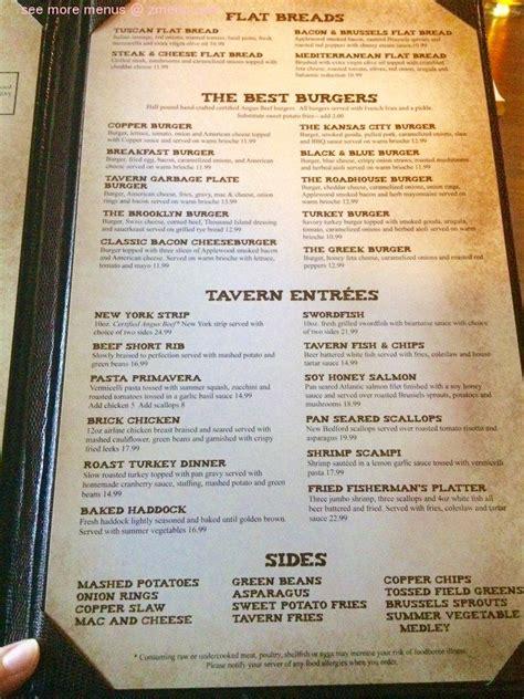 menu  copper house tavern restaurant somers