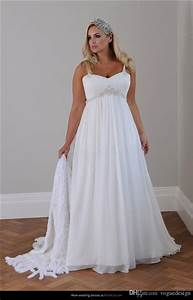 cheap plus size beach wedding dress 2015 straps pleats With cheap plus size beach wedding dresses