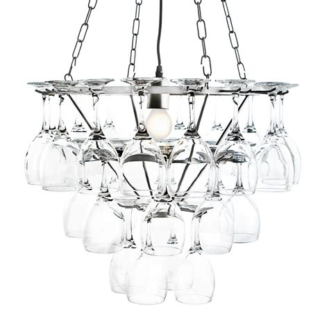wine glass chandelier 3 tier in silver from litecraft