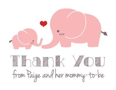 custom personalized pink elephant baby shower