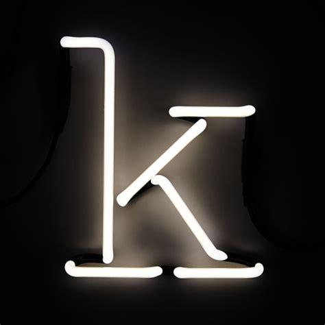 seletti neon wall light letter k iwoot