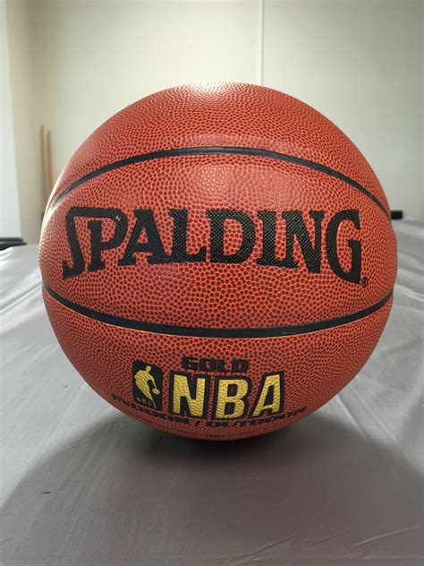 size  spalding gold nba leather basketball ball indoor