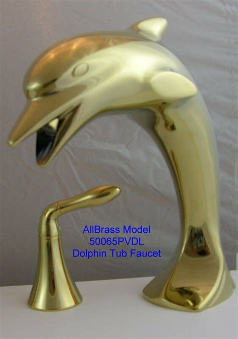 dolphin tub faucet  tall brass matching sink faucet ebay