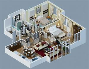plan maison 3d d39appartement 2 pieces en 60 exemples With superior maison en 3d gratuit 10 plan 3d salon