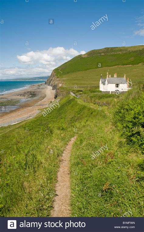 remote house remote house on the ceredigion coastal path at wallog between stock photo royalty free image