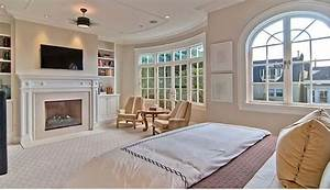 master bedroom with fireplace - Hooked on Houses