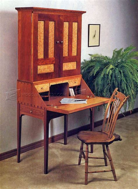 drop leaf desk with hutch drop front desk plans woodarchivist