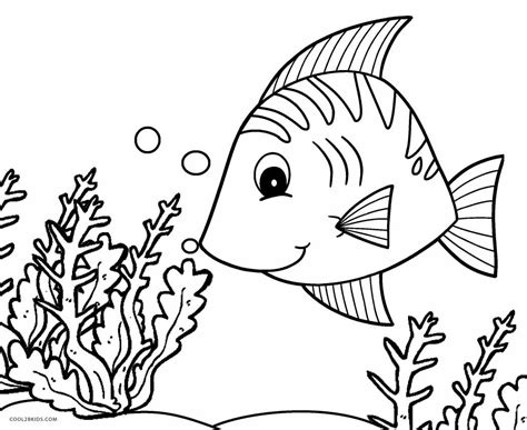 printable fish coloring pages  kids