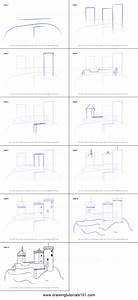 How to Draw a Medieval Castle printable step by step ...