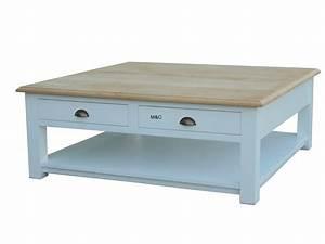 Table Salon Carrée : table basse carr bois massif ~ Teatrodelosmanantiales.com Idées de Décoration