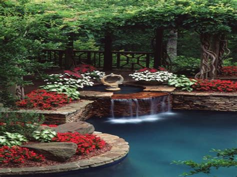 pond designs with waterfalls beautiful backyards on a