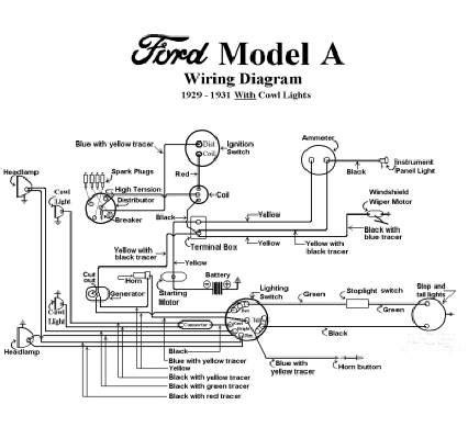 Ford Model A 12 Volt Wiring Diagram by Electrical Model A Garage Inc