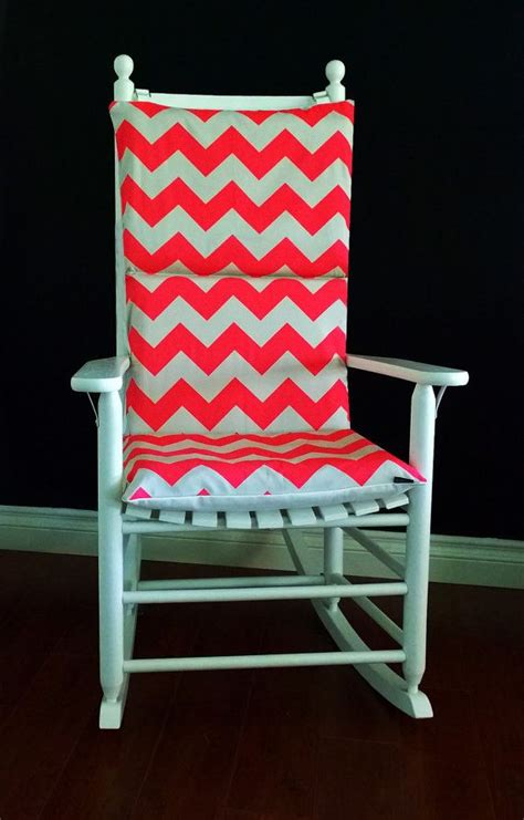 Pink Rocking Chair Cushions For Nursery by Rocking Chair Cushion Pink Neon Chevron