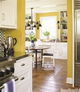 yellow kitchens ideas for yellow kitchen decor With kitchen colors with white cabinets with wall art for dining area