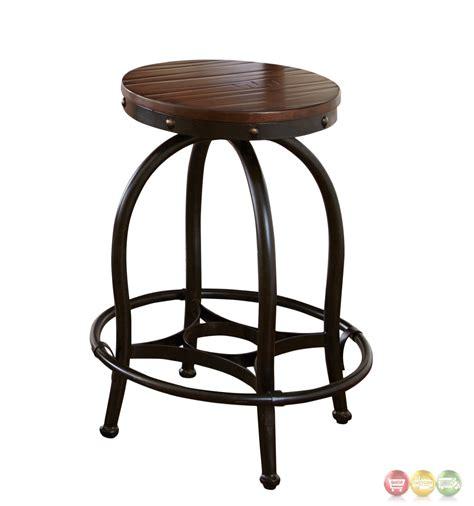 winston industrial counter height desk stool cherry