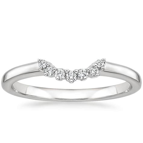 crescent ring in 18k white gold