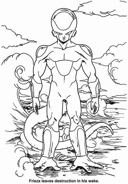 Dragon Frieza Coloring Ball Pages Form Final