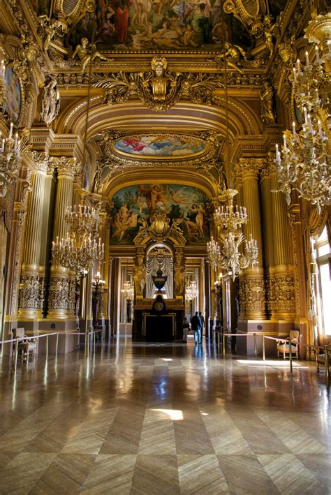 grand foyer frescoes  fireplace palais garnier paris