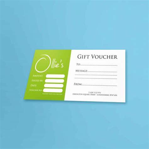 gift vouchers web design graphic design logo design