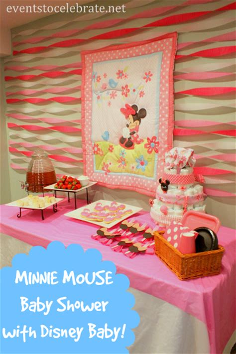 minnie mouse baby shower decorations ideas minnie mouse baby shower ideas events to celebrate