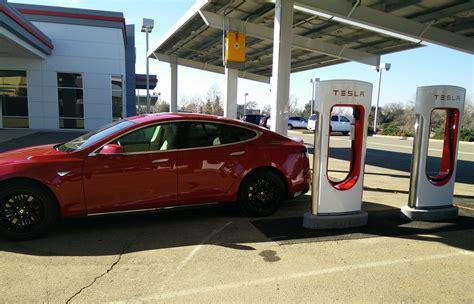 update teslas  solar powered supercharger store