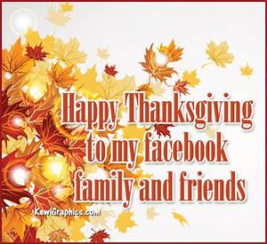 Happy Thanksgiving Facebook Family and Friends Facebook ...