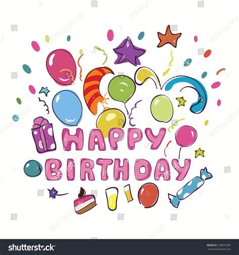 happy birthday greeting card kids vector stock vector