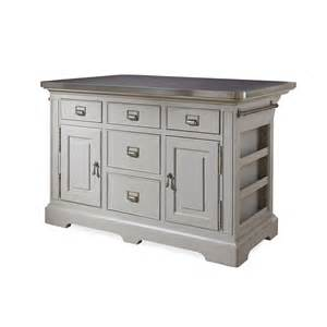 Steel Kitchen Island Paula Deen Home Dogwood Kitchen Island With Stainless Steel Counter Top Reviews Wayfair
