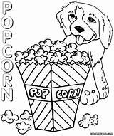 Popcorn Coloring Pages Box Popcorn2 Printable Colouring Sheet Template Print Food Duathlongijon sketch template