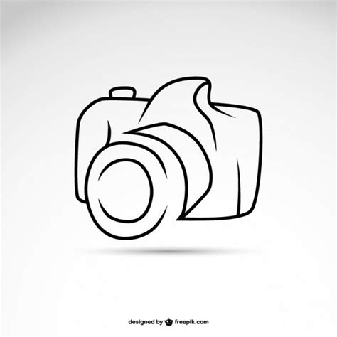 art camera symbol logo template vector