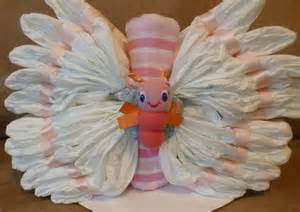 Girl Baby Shower Butterfly Diaper Cakes