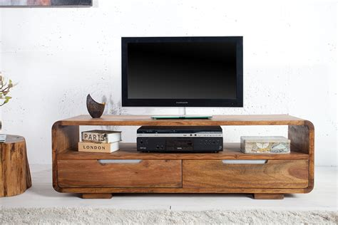 design tv möbel lowboard massives design tv lowboard cube palisander sheesham 130cm 2 schubladen riess ambiente de