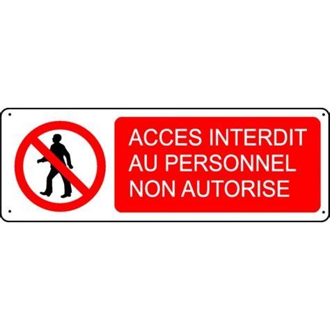 plaque de porte bureau pictogramme accès interdit au personnel non autorisé
